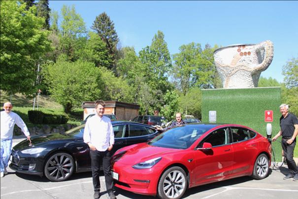 Tesla-Ladestation für E-Autos