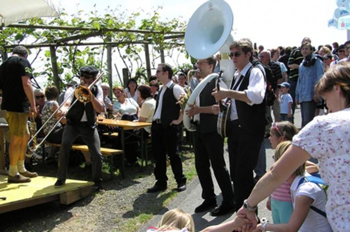 Titel: Kellerstöckl hoamsuachn in Fehring - Beschreibung: erleben die winzer die stimmung die musik im Vulkanland