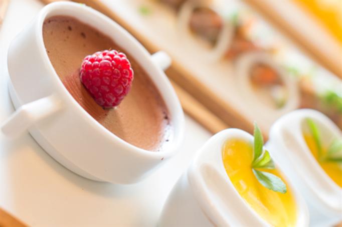 seviertes frühstück im steirischen restaurant malerwinkl nahe der riegesburg. regionale produzente liegen uns am Herzen